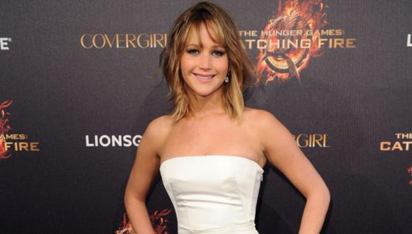 Jennifer Lawrence en galería. (AFP)
