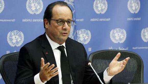 El mandatario francés advirtió que 'próximamente' podrían realizar nuevos bombardeos. (EFE)