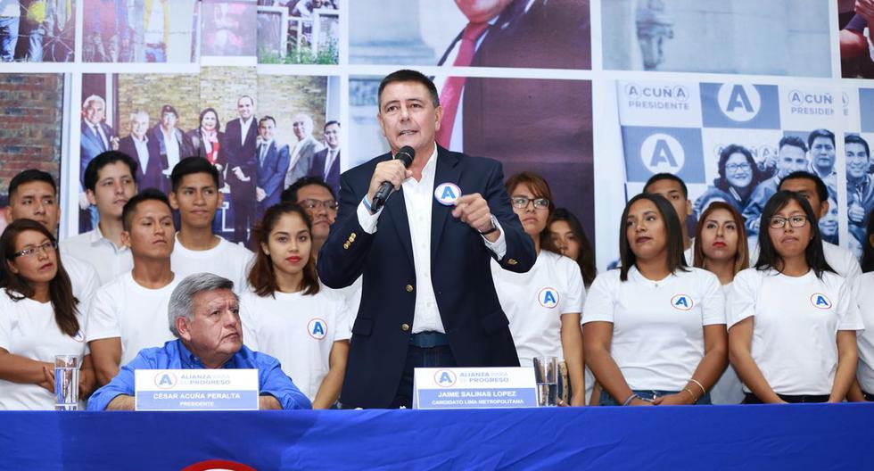 Jaime Salinas busca ser alcalde de Lima con Alianza para el Progreso (APP)