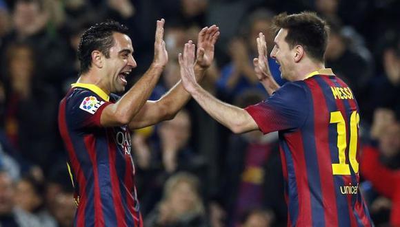Xavi Hernández dijo que no gana un Balón de Oro porque existe Lionel Messi. (Reuters)