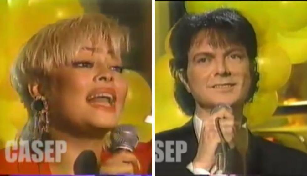 """El cantante español llegó a Lima en 1992 y se presentó en el programa """"Aló, gisela"""". (Foto: @giselaperufco)"""