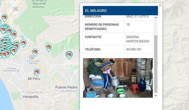 Conoce más datos sobre las ollas comunes que hay en Lima usando Google Maps. (Foto: Municipalidad de Lima)