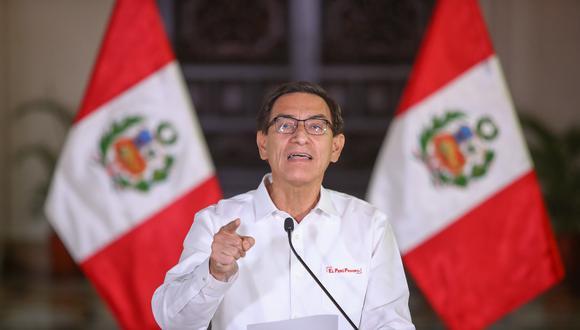 El presidente Martín Vizcarra se pronunció en torno a los audios difundidos el fiin de semana pasado (Presidencia).