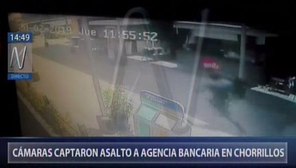 Las imágenes difundidas por Canal N se observa el instante del robo y la huida de estos sujetos. (Video: Canal N)