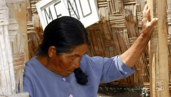 Hermenegilda Hala dice que todos los días pide perdón por los actos que cometió su hijo. (Heiner Aparicio)