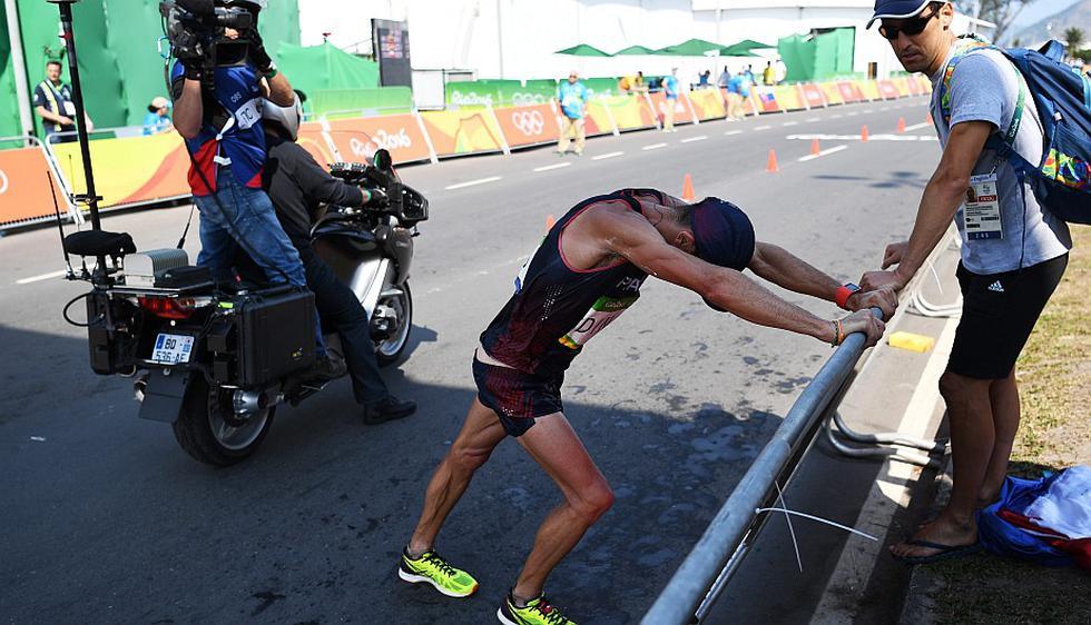 Yohann Diniz protagonizó una heróica carrera en los 50 kilómetros marcha en Río 2016. (EFE)