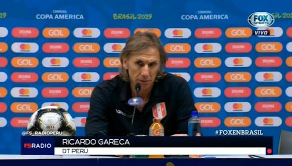 Ricardo Gareca: 'Amo a mi país, pero tengo un compromiso con el Perú hasta el 2021'. (América TV)