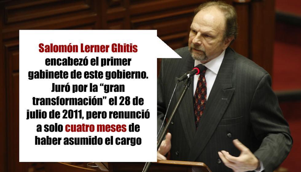 Salomón Lerner fue el primer jefe de la PCM del gobierno. (Perú21)