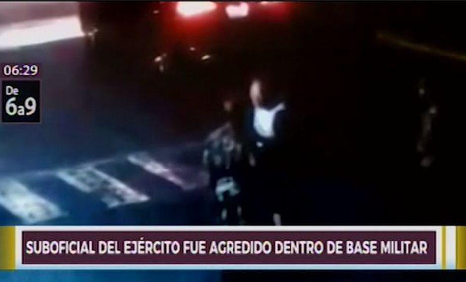 El hecho se produjo la noche del último domingo y la agresión fue captada por cámaras de seguridad. (Captura: Canal N)