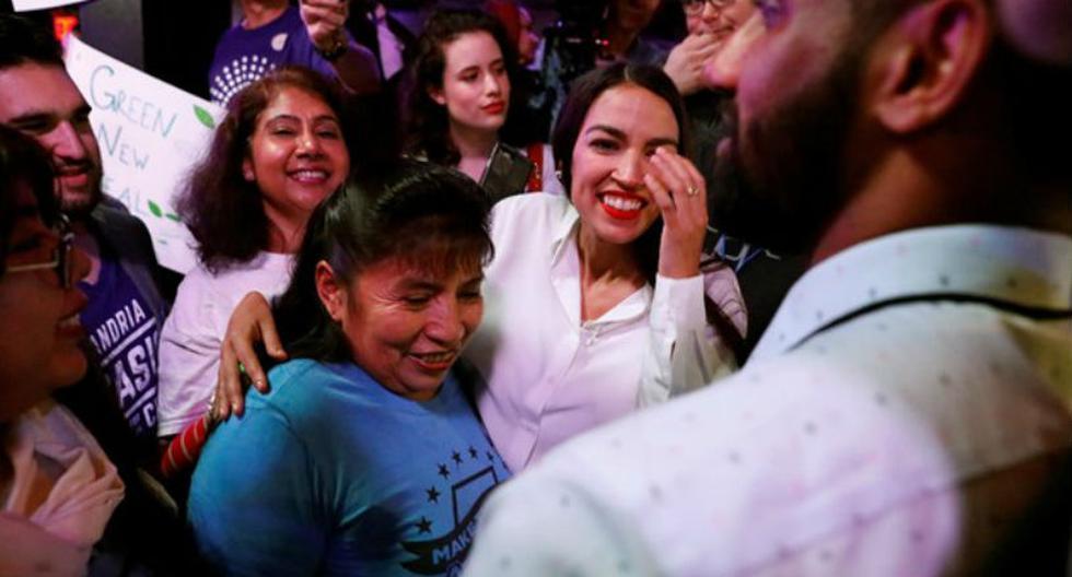 La neoyorquina Alexandria Ocasio-Cortez, demócrata latina y de 29 años, y que se ha convertido en la congresista más joven de la historia de Estados Unidos. | Foto: Reuters