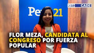 Flor Meza, candidata al congreso por Fuerza Popular [VIDEO]