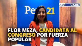Flor Meza, candidata al congreso por Fuerza Popular [VIDEO]