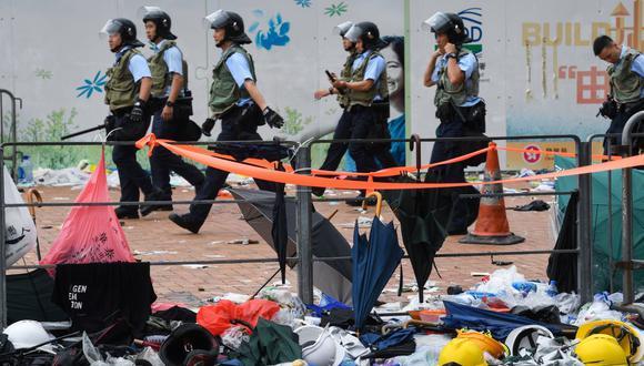 Según las autoridades de Hong Kong, hubo 22 heridos, entre policías y manifestantes. (Foto: AFP)