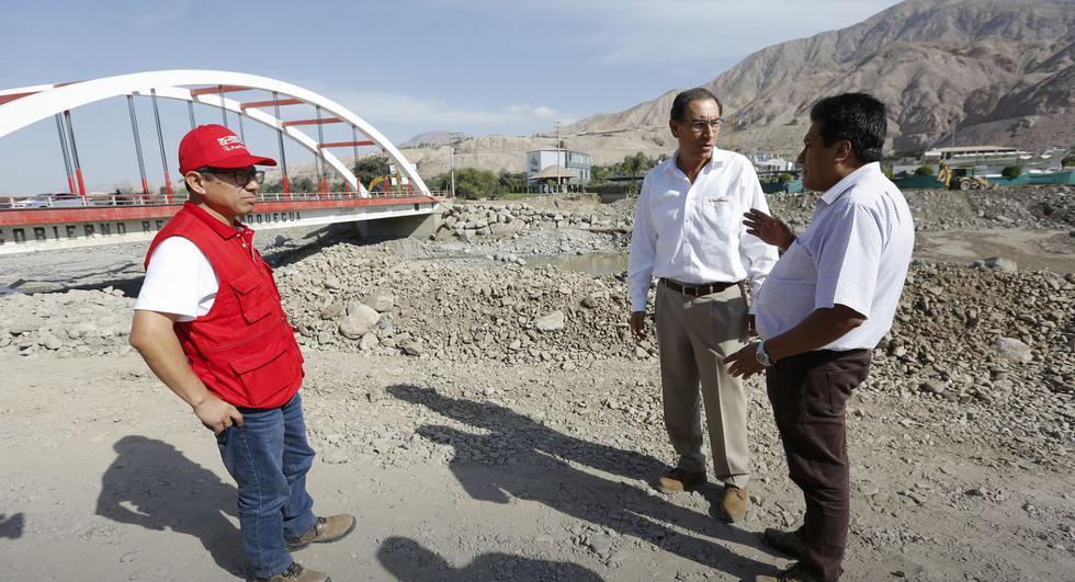 Moquegua: Se habilitó tránsito en el puente Montalvo tras huaicos. (Fotos: Presidencia)