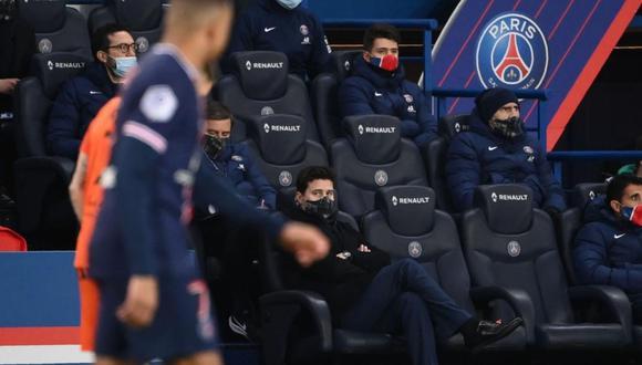 Pochettino demostró autoridad frente a Neymar y Mbappé (Foto: AFP)