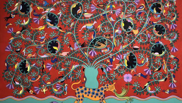 """""""Árbol de la vida"""" (2015), obra de Josué Sánchez que pone de manifiesto el imaginario y talento del artista huancaíno."""