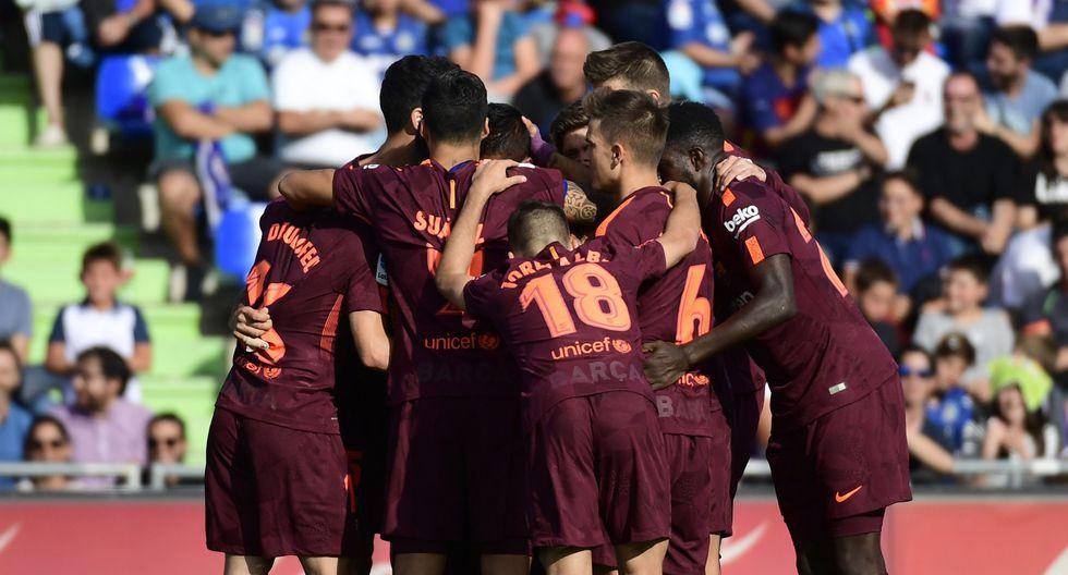Barcelona continúa como líder de la clasificación española. (AFP)
