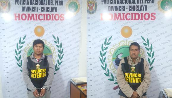 Lambayeque: Segundo Tineo Carrasco (58) fue detenido junto a su hijo Denys Tineo López (25), quienes estarían involucrados en la muerte de un familiar. (Foto PNP)