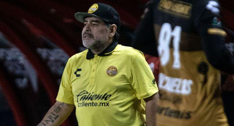 Diego Maradona es entrenador de Dorados desde septiembre del 2018. (Foto: AFP)