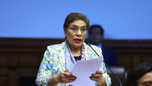 Luz Salgado aseguró que votarán con libertad de conciencia sobre caso Pedro Chávarry. (Foto: Congreso)
