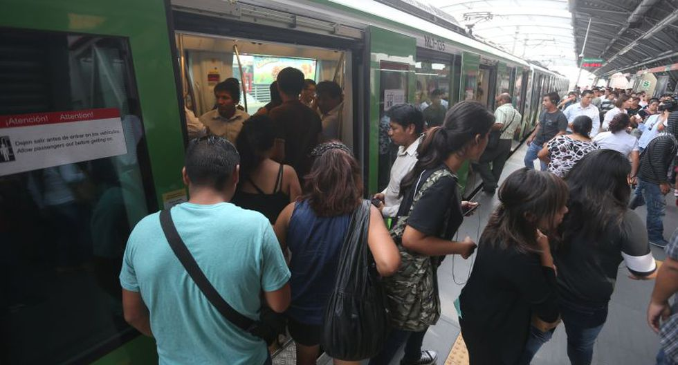 La medida apunta a beneficiar a los pasajeros que usan la Línea 1 durante la hora punta. (Foto: El Comercio)