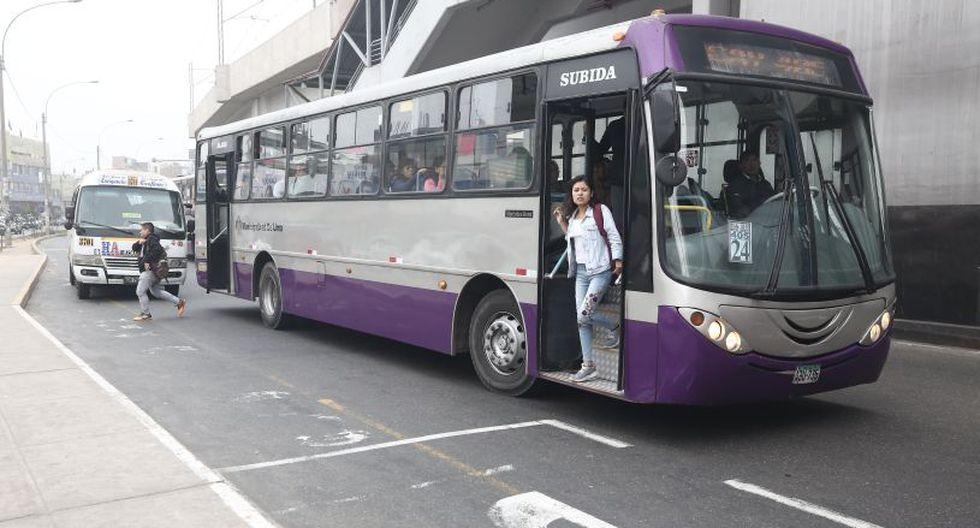 Los buses del Corredor Morado se desplazan desde San Juan de Lurigancho hasta Magdalena. (El Comercio)