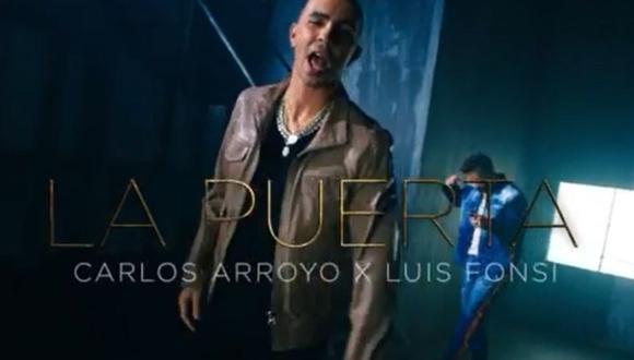 """Luis Fonsi y elexjugador de NBA Carlos Arroyo se unieron para lanzar """"La Puerta"""". (Foto: @luisfonsi/@carroyopr)"""