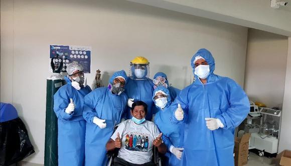 Piura: hombre de 63 años fue dado de alta tras superar el COVID-19 en Hospital de Apoyo II-2 (Foto: Hospital de Apoyo II-2)