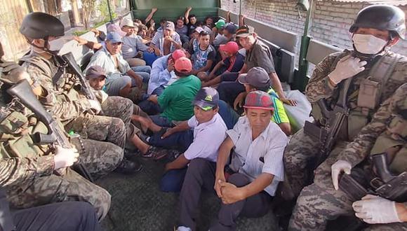 Detenidos en Piura por incumplir la emergencia. (Foto: Gobierno Regional de Piura)
