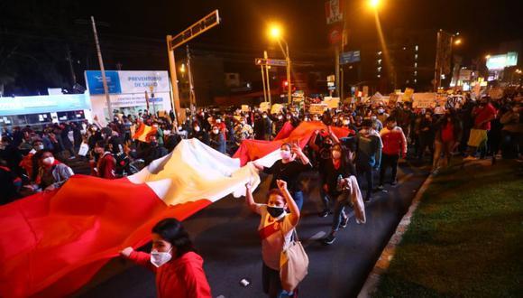 Las protestas contra el gobierno de Manuel Merino se iniciaron tras la vacancia de Martín Vizcarra. (Foto: Gonzalo Córdova / @photo.gec)