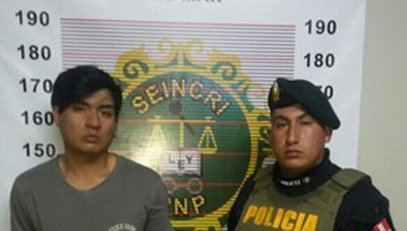 Presunto delincuente fue reconocido por extranjero.