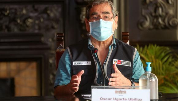 El ministro de Salud aseguró que lo ideal es que la primera fase de inmunización termine a fines de marzo con los lotes de dosis garantizados; sin embargo, se puede extender hasta abril. (Foto: PCM)