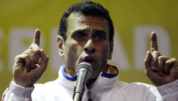 CONFIADO. Capriles dice que los cambios en su país son imparables y que habrá nuevas elecciones. (EFE)