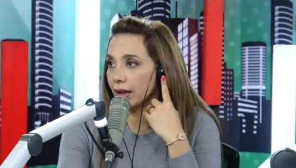 Mónica Cabrejos en contra de la xenofobia. (Captura/Capital)