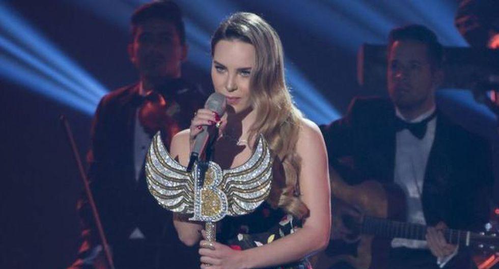Belinda genera polémica por el tema del 'Sapito'.  (El Universal)