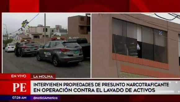 La diligencia es realizada por la Policía Nacional a pedido del Ministerio Público. (Captura: América Noticias)