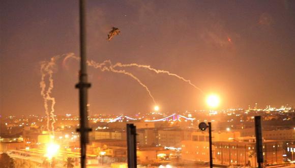 Dos proyectiles impactan en la Zona Verde de Bagdad. (Foto referencial: AFP)