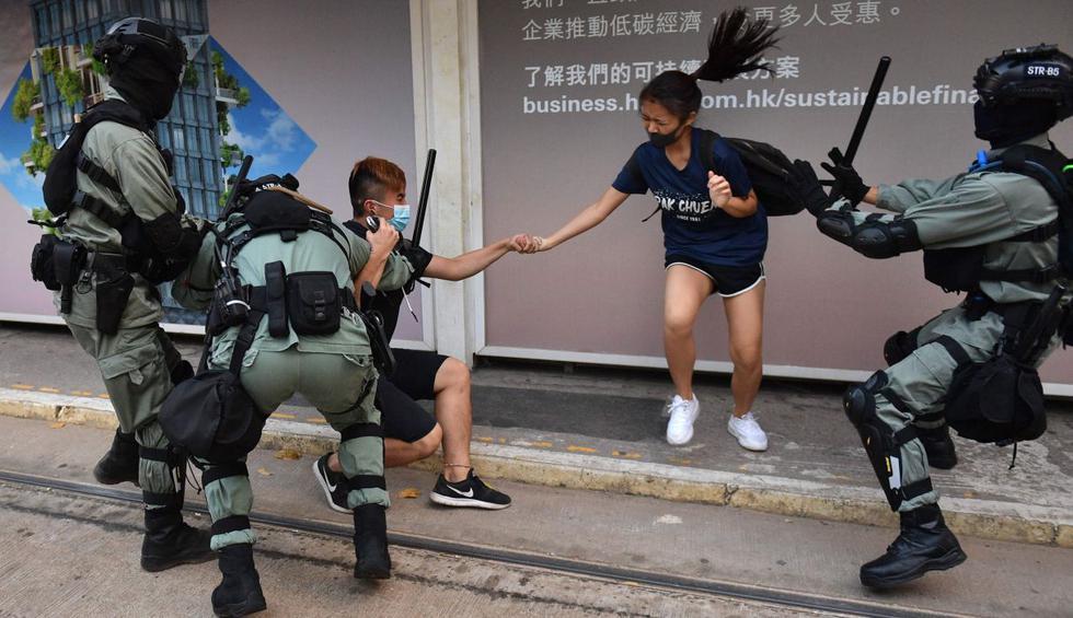Caos, violencia y desafío al gobierno de Hong Kong tras noche de protestas. (Foto: AFP)