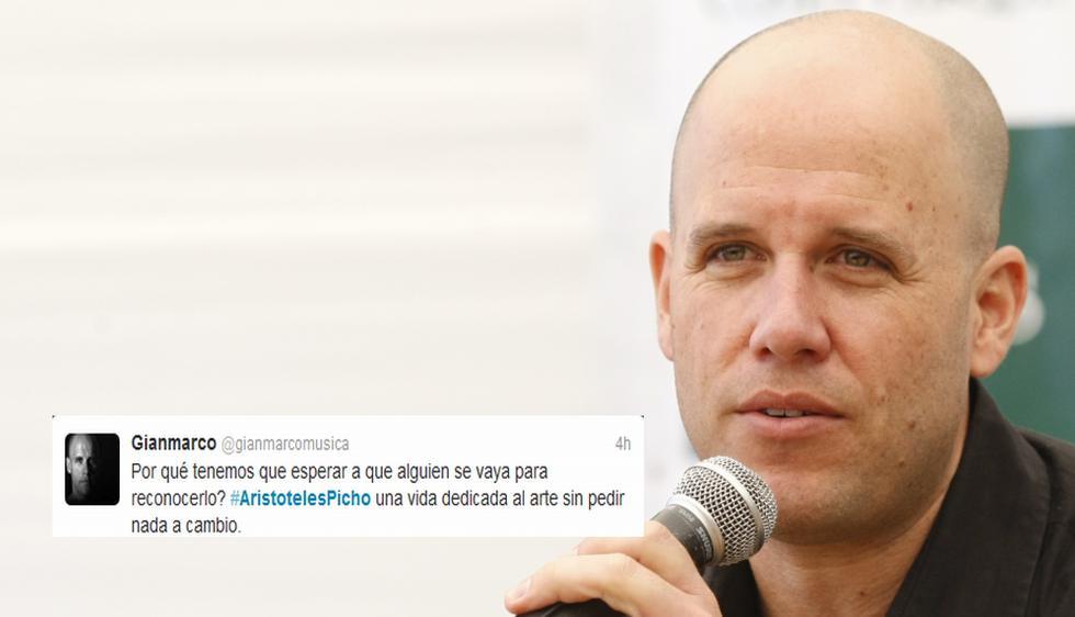 El cantante Gian Marco lamentó la muerte del actor nacional Aristóteles Picho. (USI)