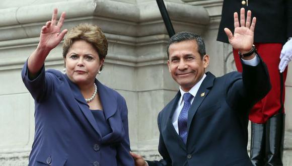 Ollanta Humala y el Partido Nacionalista se solidarizaron así con Dilma Rousseff. (USI)