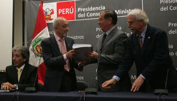 Ministros y peritos comentaron informe técnico que será la base del diálogo con las autoridades de Cajamarca. (Martín Pauca)