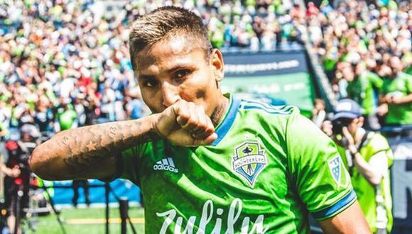 Raúl Ruidíaz abrió el marcador en el duelo ante Los Angeles Galaxy por la MLS. (Foto: @Sounders)