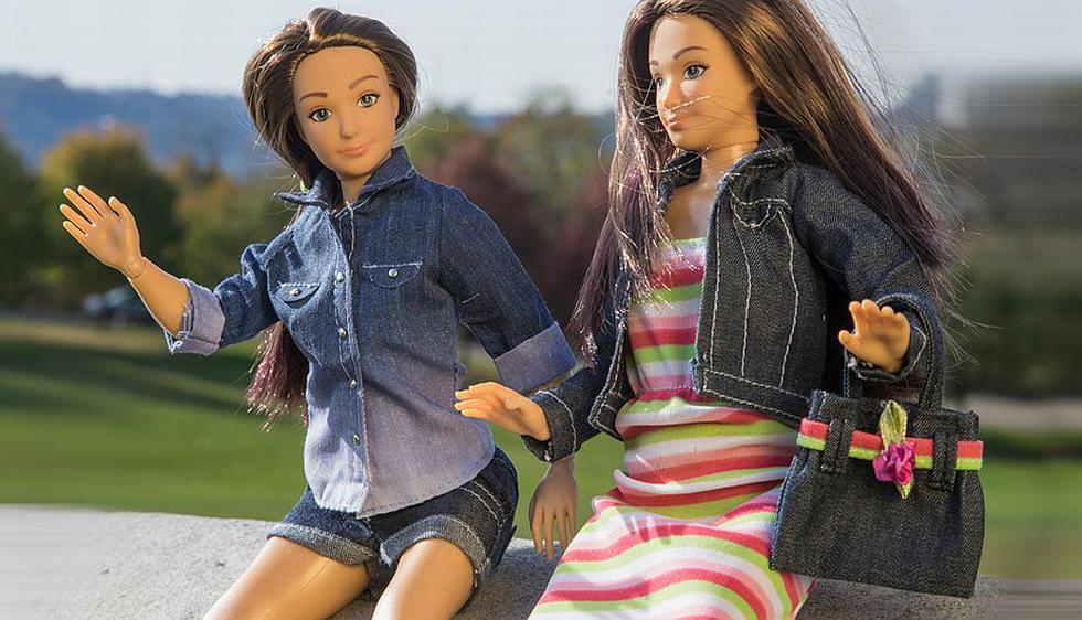 Lammily parece una Barbie, pero tiene otras dimensiones. (Lammily.com)