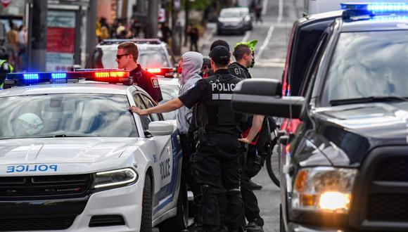 La policía de Minneapolis será desmantelada y reconstruida tras el asesinato de George Floyd. (AFP/MARTIN OUELLET-DIOTTE).