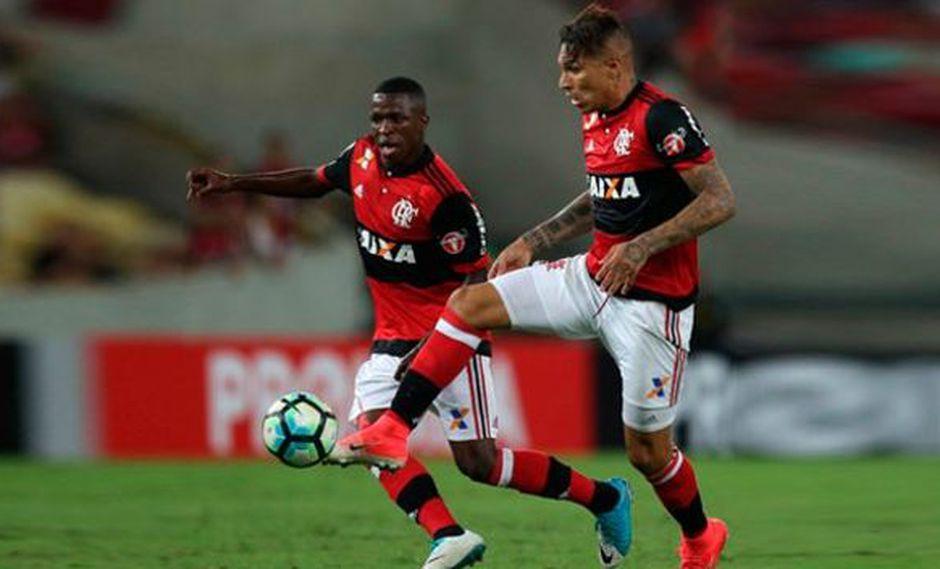 Paolo Guerrero llegó a 100 goles en Brasil de sus etapas en Corinthians, Flamengo e Internacional. (Foto: Flamengo)