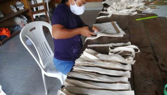 Cusco: artesanas confeccionaron y entregaron mascarillas a comunidades indígenas (Foto difusión).