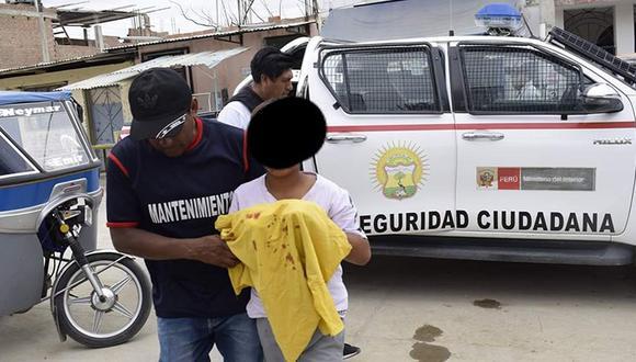 Niño se mutiló los dedos de las manos al escapar de sus secuestrados en Olmos (Foto: Noticias Olmos)