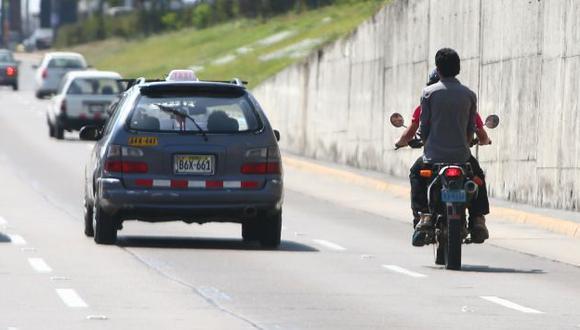 Inciativa busca reducir los crímenes cometidos por delincuentes en estos vehículos. (USI/Referencial)