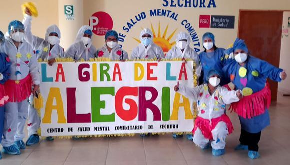 """Piura: centro de salud mental llevó diversión a los médicos mediante la """"Gira de la Alegría"""" (Foto: Diresa Piura)"""