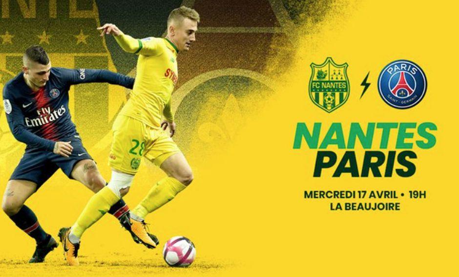 PSG va en busca del título ante Nantes en partido pendiente. (Foto: FC Nantes)